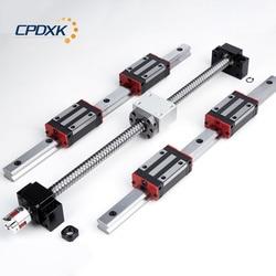 Niska cena śruby kulowej SFU1605 + 2 sztuk hg20 prowadnica liniowa 300mm bloki 4 sztuk HGH20CA + zwolennikiem BK12 i BK12 + łącznik 8*10 w Prowadnice liniowe od Majsterkowanie na