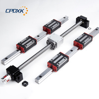 low cost ball screw SFU1605 + 2pcs hg20 linear guideway 300mm blocks 4 pcs HGH20CA + supporter BK12 and BK12 + coupler 8 *10