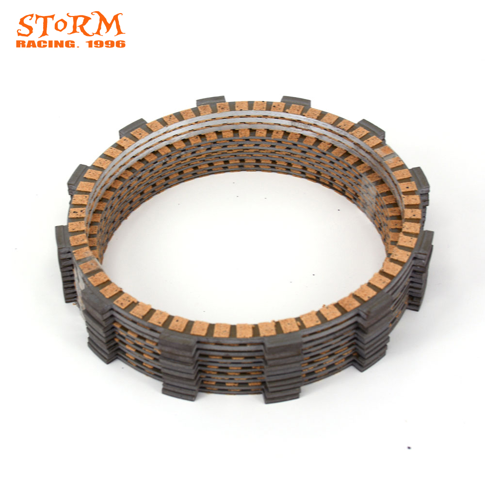 10PCS Motorcycle Clutch Friction Plates Disc Set For KTM RC8 1190R Track 20110 2014 2015 2016 13-16 Super Duke R 2014-2016 2014