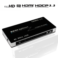 HDMI Splitter 1 in 8 out  1x8 4 K HDMI 2.0 Splitter Ondersteuning 4 K * 2K @ 60 HZ/3D/HDCP 2.2/HDMI 2.0 op