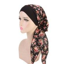المرأة مطاطا الداخلية الحجاب قبعة النمط الرعوي سيدة العصابات الشعر موضة تربان إسلامية الحجاب القبعات قبعات هندية التفاف قبعة