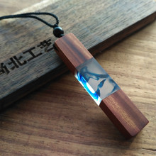 Fashion Women Men Necklace Handmade Vintage Resin Wood Statement Necklaces