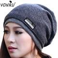 Fashion Korean Women Men Beanie Autumn Winter Wool Warm Hat Scarf Knitting Skull Hairwear 7 Colors Bonnet Hiver 1MZ0544
