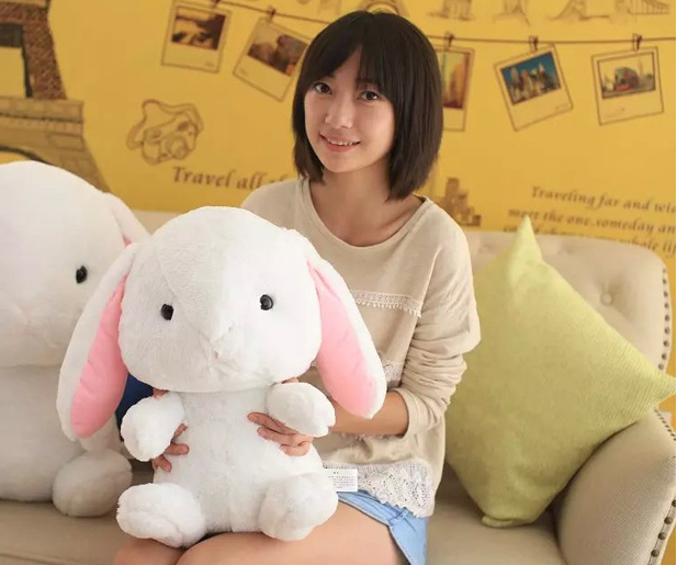 middle plush rabbit toy new creative white rabbit doll gift doll about 50cm 0373 60cm new queen couple rabbit plush toy of peter rabbit doll wearing glasses rabbit doll valentine s day gift