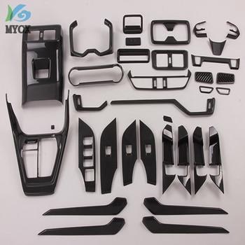 ABS carbon fiber Interior door handle panels interior parts car styling car interior accessories For toyota rav4 2019 34pcs