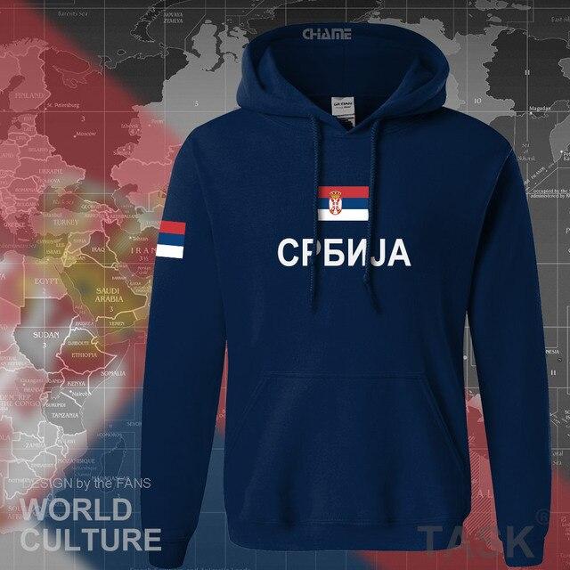 Serbia Serbian Serbs hoodies men sweatshirt sweat new hip hop streetwear clothing sporting top tracksuit nation 2017 SRB Srbija