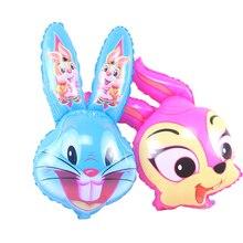 1PC 45x75cm super cute beard rabbit shape aluminum foil neon balloon birthday wedding decoration supplies children's toys Globos