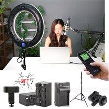 Viltrox VL-600T LED Ring light Bi-color Wireless remote + light stand for camera