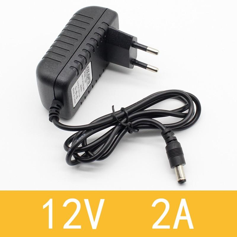 1 шт. 100-240 В AC в DC адаптер питания зарядное устройство адаптер 5 в 12 В 1A 2A 0.5A ЕС Штекер 5,5 мм x 2,5 мм/5v3aDC штекер Micro USB - Цвет: 12V2A