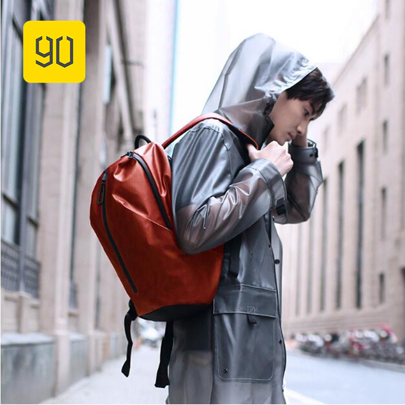 все цены на Xiaomi 90FUN All Weather Functional Backpack Waterproof Backpack Women Men Mochila Bagpack Travel Schoolbag Business Bags
