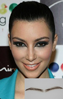 Angela Eyebrow Dark Brown Natural Hair Eyebrow Artifical Eyebrow Fake Eyebrow 2pcs Lot Eyelash Extensions