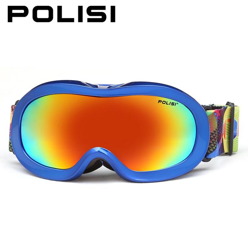 c101c87590 Polisi invierno nieve esquí gafas antiniebla polarizado protección del  patín gafas niños protección UV esquí snowboard Gafas
