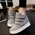 NEWORANGE Platform Women Shoes 2017 Autumn Korean Hidden Heel Flock Fashion Wedge Casual Shoes Flats Woman WSN3