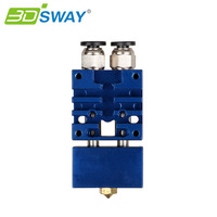 3DSWAY 3D Printer Parts Improved Version E3D Cyclops 2 In 1 Out Hotend Dual Color Switching