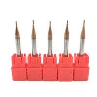 5PCS HRC60 1mm Solid Carbide Endmills ENDMILL D1X3XD4X50L 4 Flute Standard Length Side milling Slotting Profiling carbide cutter Milling Cutter