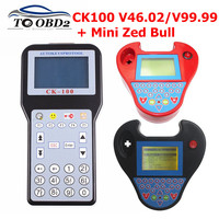 CK100 주요 프로그래머 CK-100 V99.99/46.02/MINI ZED BULL OBD2 진단 도구 자동차 결함 판독기 자동 코드 스캐너 No totokens limited