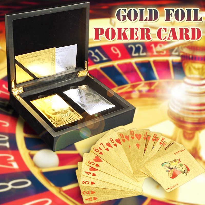 WR Business souvenirs cadeaux coloré 50 livre or carte à jouer maison décorative colorée Casino cartes à puce dans Double boîte en bois