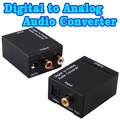 Digital Optical Coax Toslink to Analog Audio Converter Coaxial or Toslink Digital Audio Signals to Analog L / R Audio adapters
