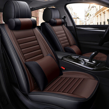 PU Leather Car Seat Cover Cushion Luxury 5D Full Surrounded Front+Rear Cushion 5-Seats Car-styling All seasons все цены