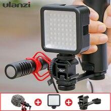מיקרופון עם Gimbal אביזרי LED וידאו אור קר נעל Youtube Vlogging וידאו התקנה עבור DJI אוסמו נייד Moza חכם טלפונים