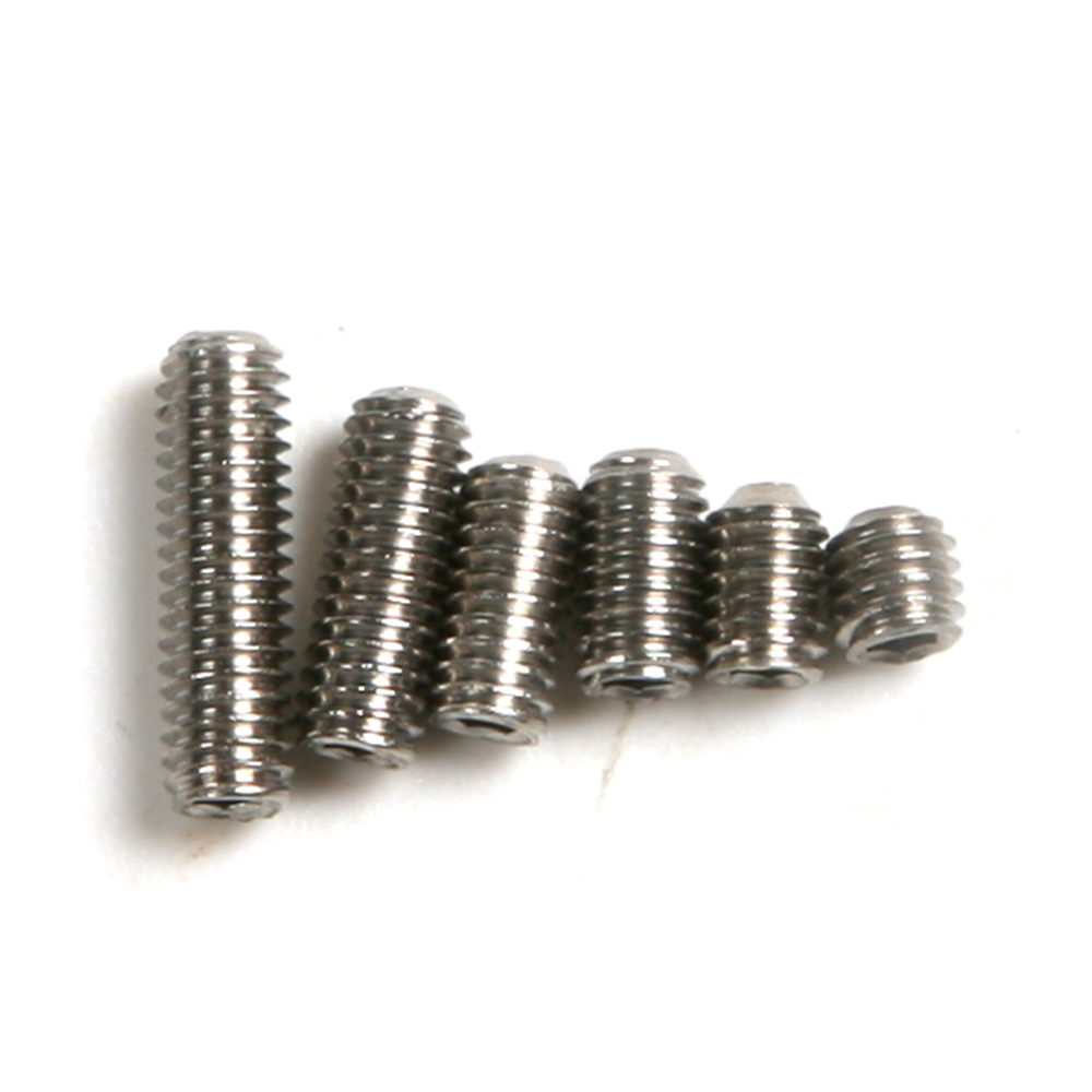High Quality 50pcs Stainless Steel M3 Screws Set Full length 3-10mm None Headless Hex Socket Screws for Fixing & tighten Screws dia 12mm m12 stainless steel advertisement scews satin finish fixing screws glass standoff pin