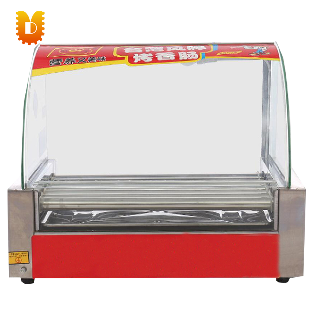 7 rollers hot dog machine commercial sausage roasting machine without door7 rollers hot dog machine commercial sausage roasting machine without door