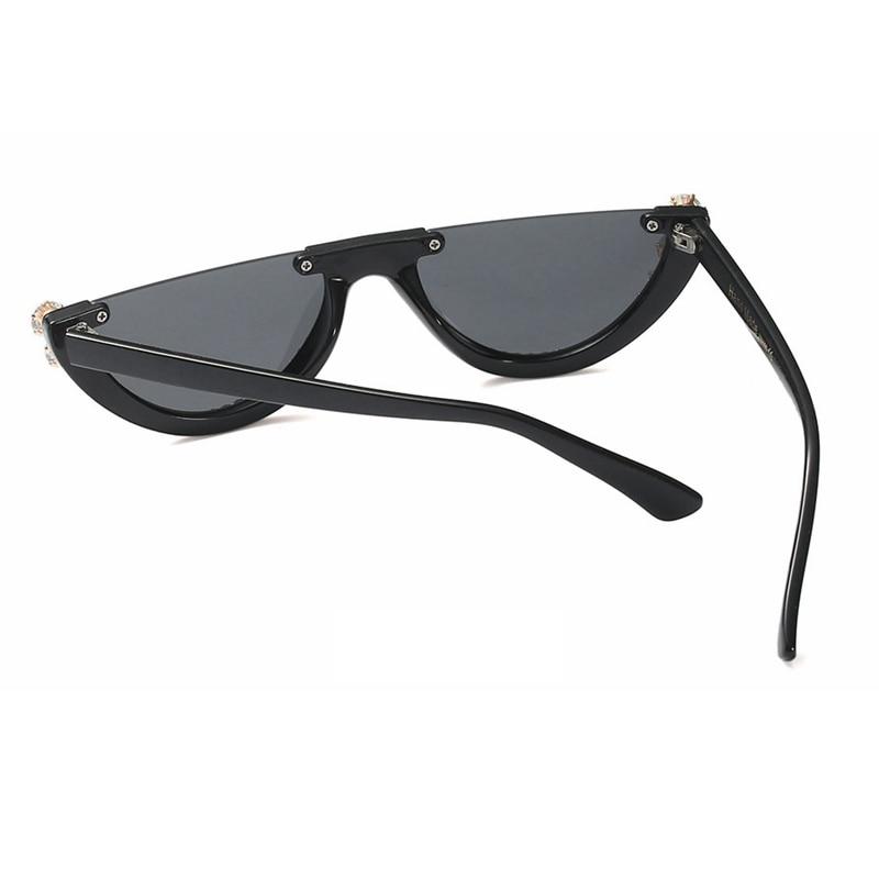 c32028a0996d 2019 Trendy Half Frame Rimless Cat Eye Sunglasses - Web and Stuff