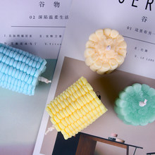 The Corn Design Silicone Candle Mold Cake Soap Mould Maize Handmade Candle Molds(China)