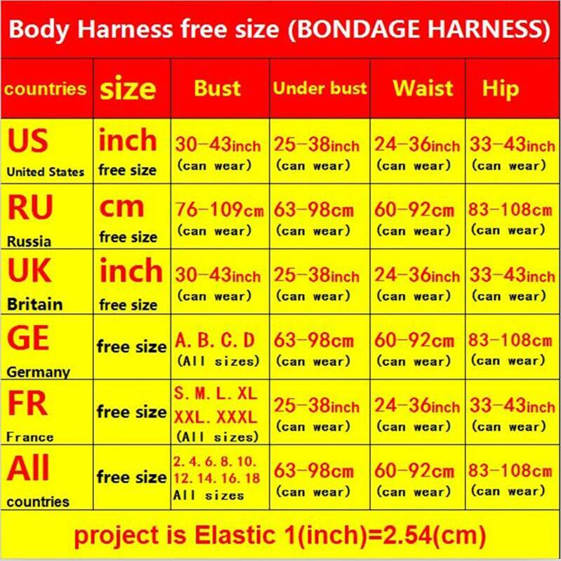 Harajuku Gothic bondage Women Top Body Harness Sexy Lingerie Bondage Harness Cage Bra Pole Dance Elastic Bra Harness Cage
