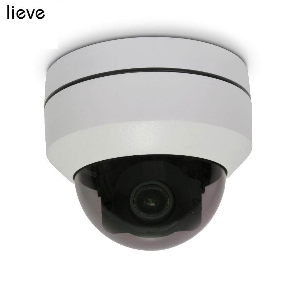 LIEVE 2MP 5MP IP Camera POE Mini PTZ Outdoor P2P CCTV Security Camera System IR Dome Pan Tilt Optical Zoom