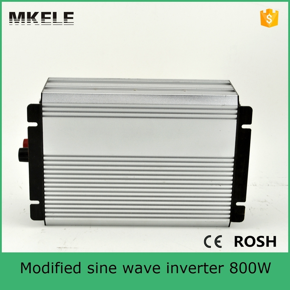 цена на MKM800-241G 800W modified sine wave solar inverter single phase vehicle inverter must inverter 24v to 110/120vac single output