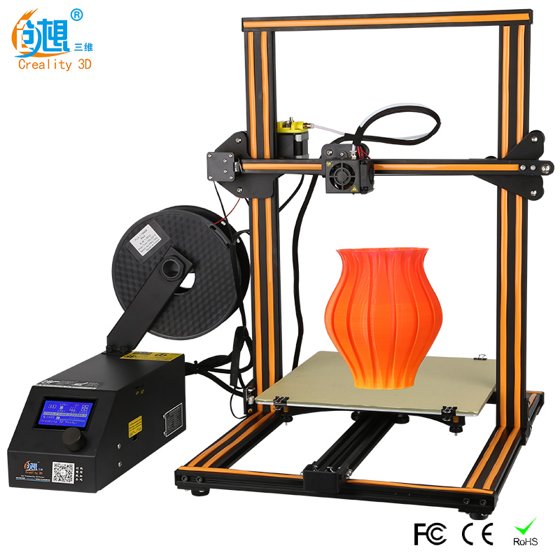 Más tamaño Creality 3D impresora CR-10S S4 S5 abierto construir con Dua Z varilla filamento Sensor/detectar potencia currículum off 3D impresora DIY Kit