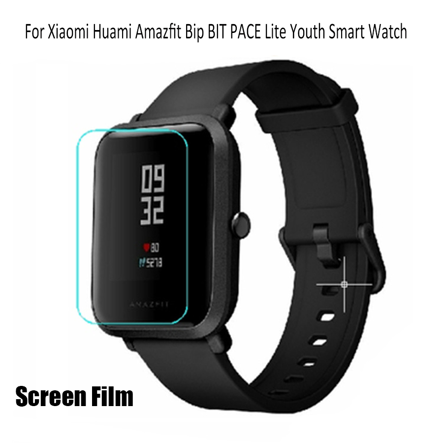 SIKAI 2Pcs TPU 20mm Watch Screen Protector For Huami Amazfit Bip Bit Youth Edition Protective Tempered Tilm For Xiaomi Bip Bit