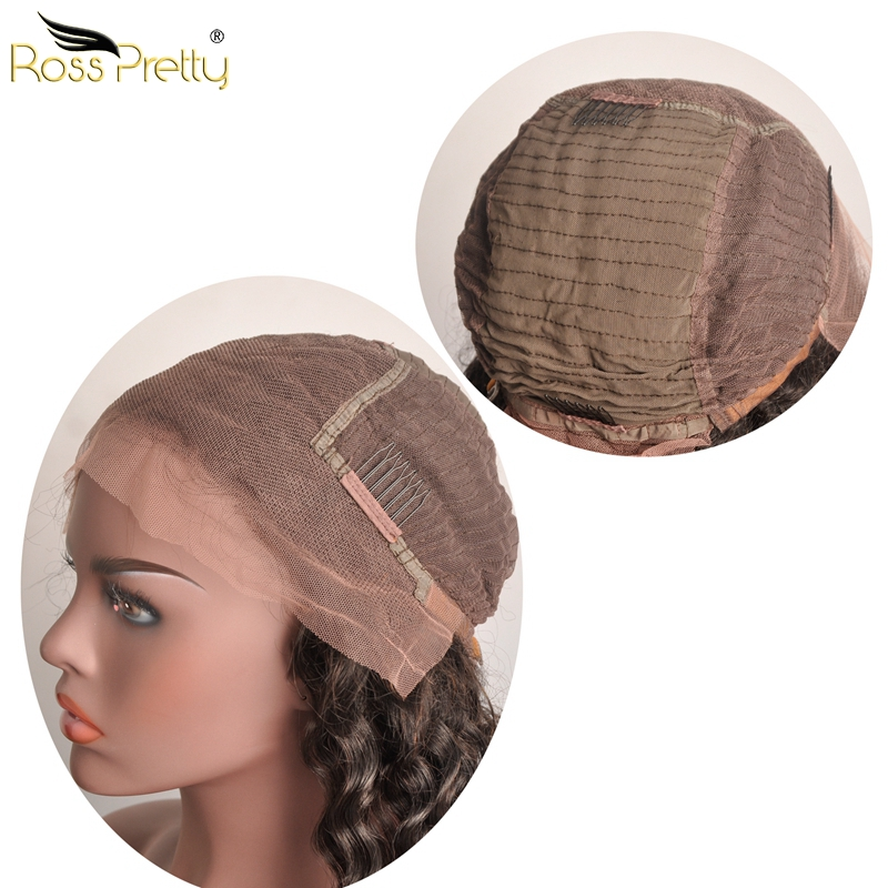 Full and silky Brazilian Hair Deep Wave Lace Frontal Wigs More Lace and Natural Lace Wigs Ross Pretty Hair Products