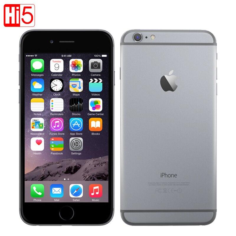 Desbloqueado Apple iPhone 6 estándar/añadir vidrio teléfono móvil 4,7 pulgadas Dual Core 16g/64g/ 128 GB Rom IOS 8MP Cámara 4 K video LTE