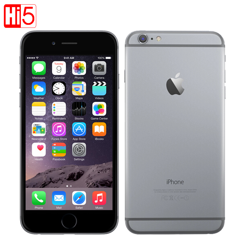 Unlocked Apple iPhone 6 standaard/voeg glas mobiele telefoon 4.7 inch Dual Core 16g/64g/ 128 gb Rom IOS 8MP Camera 4 k video LTE