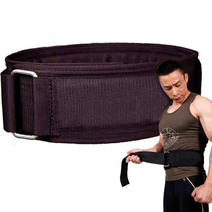 Prix pour Nylon Puissance Poids De Levage Taille Ceinture Gym Fitness Support pour le Dos de la Bande de Formation Pour Femmes & Hommes Musculation Sangle En Néoprène Protecteur