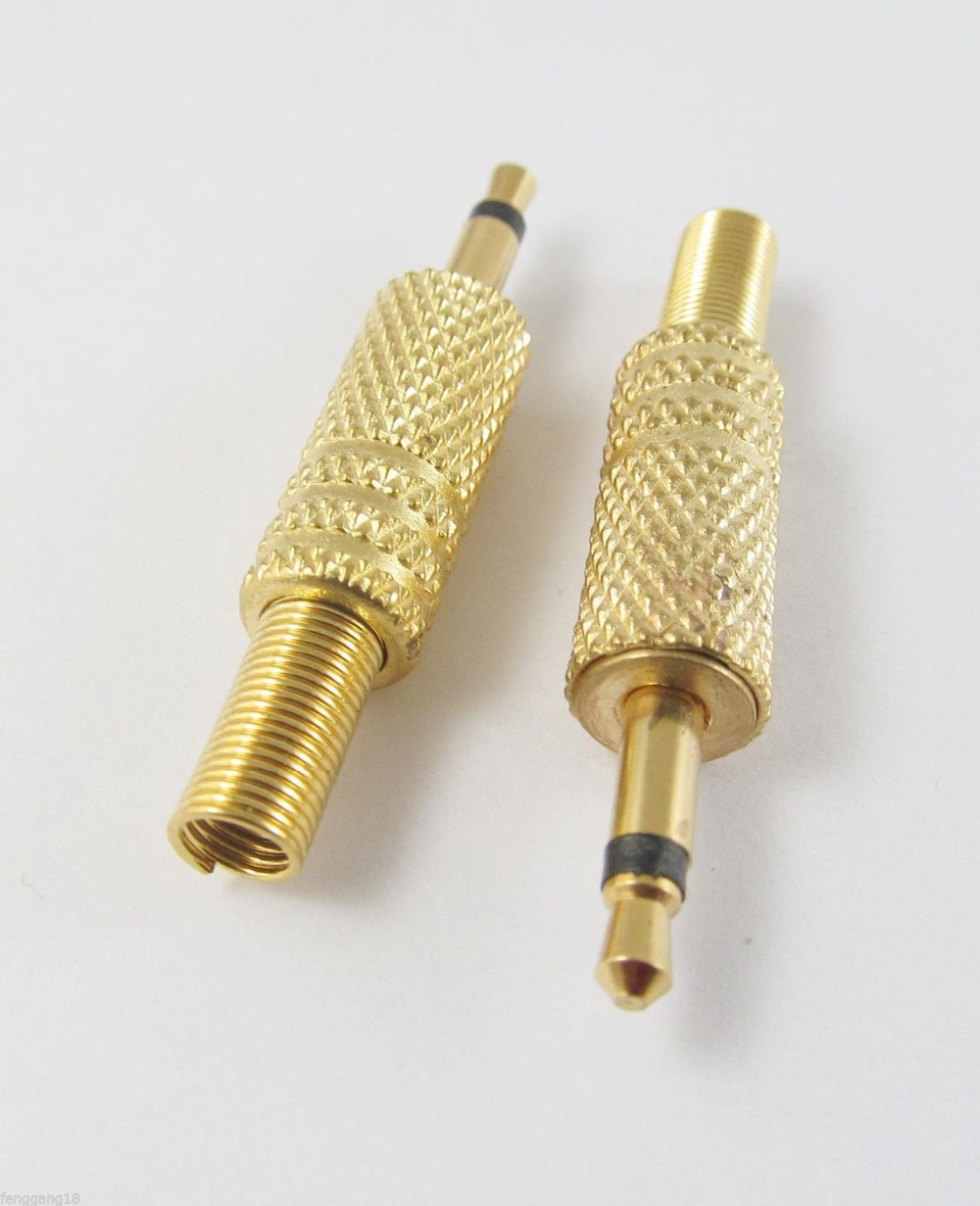 "10pcs Gold 3.5mm 1//8/"" Mono TS Male Plug Audio Cable Solder Adapter Connector"
