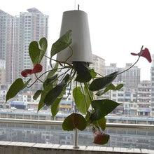Sky Garden Creative Aerial Flower Pot Plastic Hanging Pot Orchid Pot Upside Down Small Flower Pot Inverted Planter Gardening