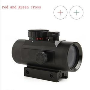 New 1x40 adjustable red and green cross sight riflescope gunsight for hunting camera bird watching air shotguns caza
