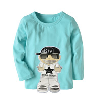 High Quality Cotton Boy T Shirt 2018 Spring Clothes Funny Baby Clothes Casual Short Sleeve Baby