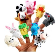 10 pcs/set Cartoon Animal Velvet Finger Puppet Finger Toy Finger Doll Baby Cloth Educational Hand Toy Story
