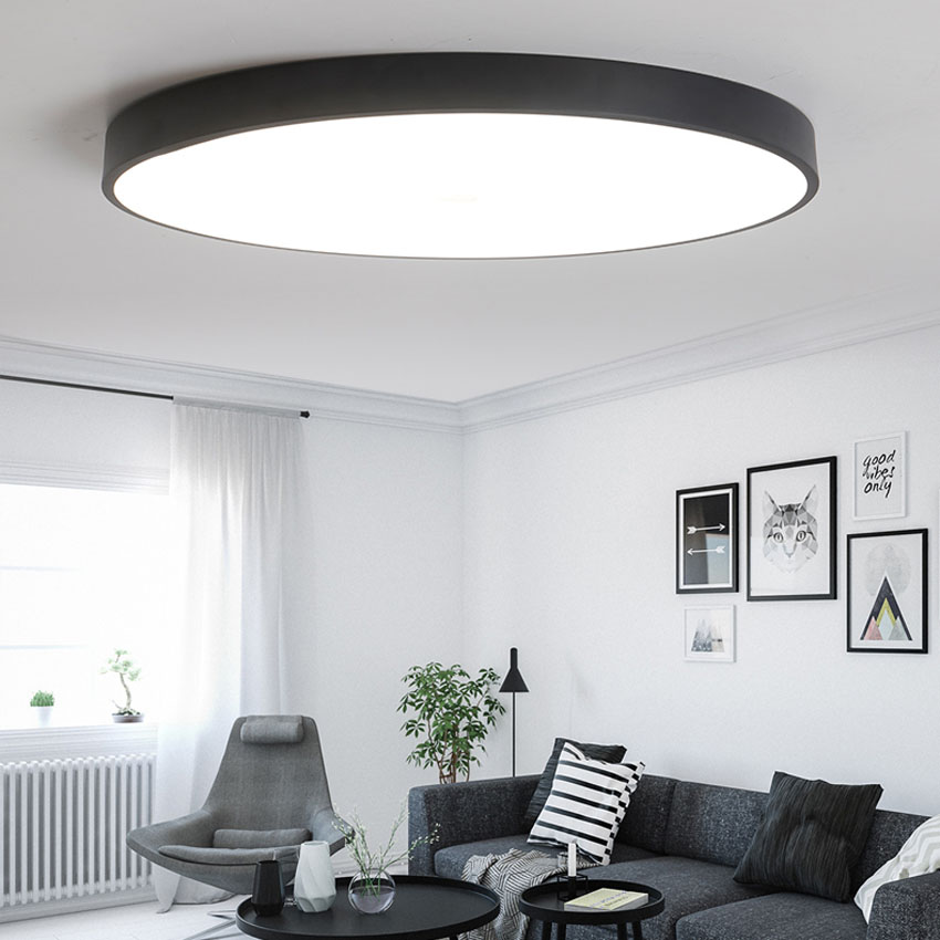Ultra Thin Round Led Ceiling Light For Living Dining Room