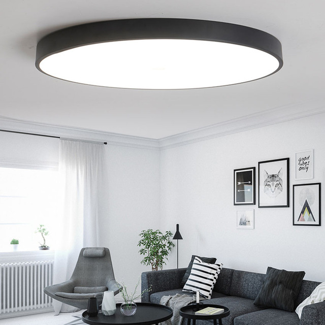 Ultra Thin Round Led Ceiling Light For Living Dining Room Bedroom Dia 40 50 60cm Rc