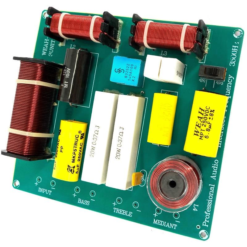 AIYIMA 1Pcs 300W 3way Frequency Board Bord KTV Faza Folësi Crossover - Audio dhe video në shtëpi - Foto 2