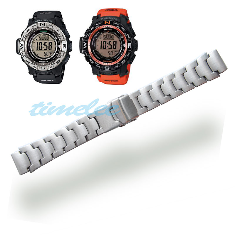 Stainless steel Strap  for CASIO PRG 250,PRG 510,PRW 3500,PRW 5000,PRG 260T,PAW 2500T Watch bands-in Watchbands from Watches
