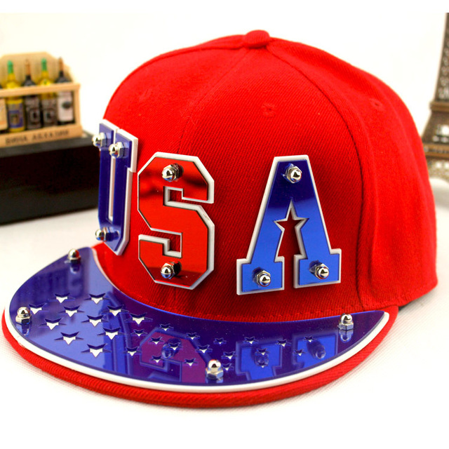 wholesale men rivet baseball cap women punk hiphop cap male brim straight snapback chapeau female bone new