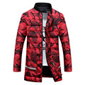 Mens down cotton padded Jacket Camouflage printing coat Winter parkas Men Military Down Overcoat Plus Size XXXL