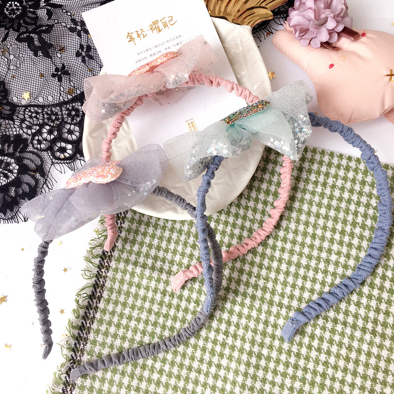 Korea Hair Accessories lovely Mickey Flower Crown Hair Band Cotton Headband For Girls Hair Bow Princess 4