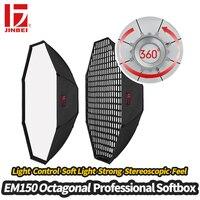 JINBEI EM 150 150 см 59 Octagon Honeycomb софтбокс с решеткой улей мягкая коробка с Bowens крепление портрет продукта фотографии